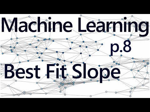 How to program the Best Fit Slope - Practical Machine Learning Tutorial with Python p.8