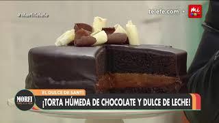Torta húmeda de chocolate y dulce de leche - Morfi