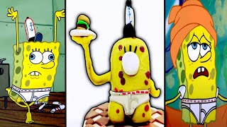 SpongeBob NoPants in Among Us With Clay