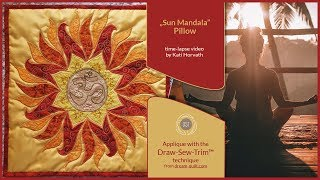 """How it was made - """"Sun Mandala"""" Pillow (DST / Time-lapse)"""