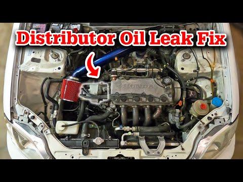 How To Fix Distributor Oil Leak | Project Civic EK