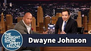 Dwayne Johnson Gives Jimmya Custom Action Figure
