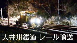 【レア貴重】大井川鉄道のレール輸送