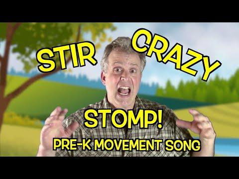 PRESCHOOL MOVEMENT SONG - Stir Crazy Stomp - Exercise Song For Kids
