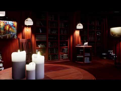 Victorian Library Ambience | Background sounds | 2 hours