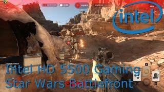 intel hd 5500 gaming star wars battlefront i3 5010u i5 5200u i7 5600