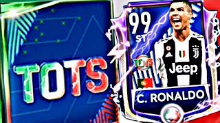 99 OVR TOTS RONALDO IN FIFA MOBILE 19 ! Juventus and Serie A tots team Gameplay and league packs