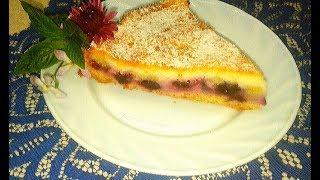 Безумно вкусный Пирог с Голубикой и Сметанным Муссом.