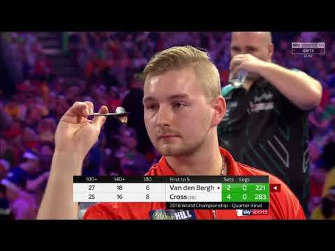 Cross vs Van den Bergh. World Darts Championship. Quarter Final. Set 6+7