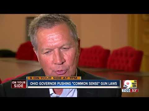 Kasich pushing 'common sense' gun laws