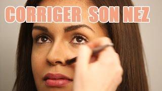 S'affiner le nez avec du maquillage correctif