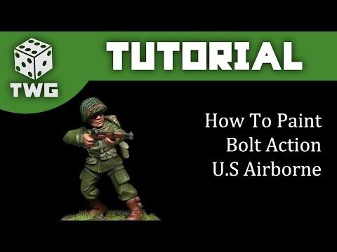 Bolt Action Tutorial: How To Paint U.S Airborne M43 Uniform
