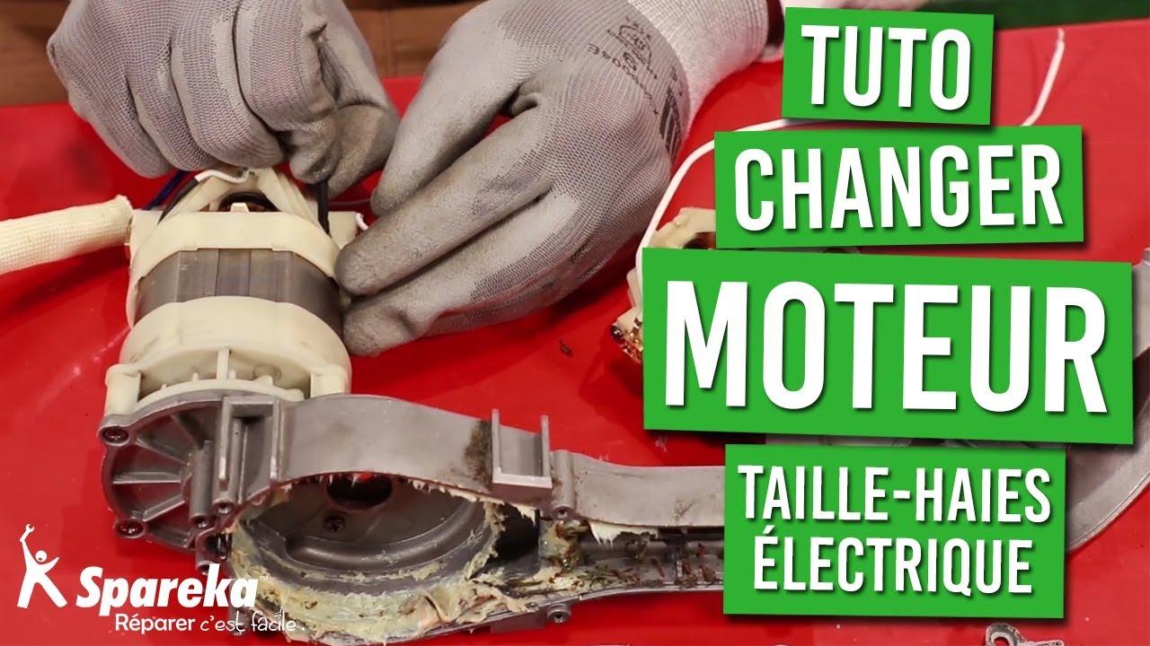 tuto comment changer le moteur du taille haies electrique
