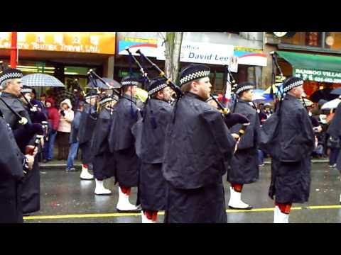 Policia de Vancouver en Desfile