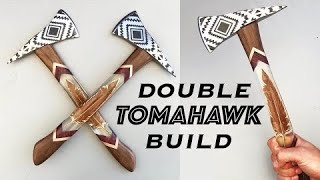 Suspended feathers encapsulated in Epoxy Resin, Double Tomahawk build!