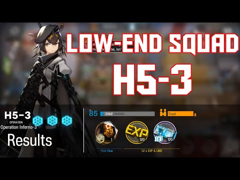 【Arknights】[H5-3] - Low End Squad - Arknights Strategy