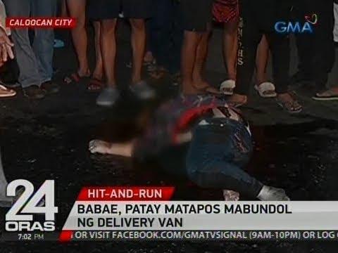 24 Oras: Babae, patay matapos mabundol ng delivery van