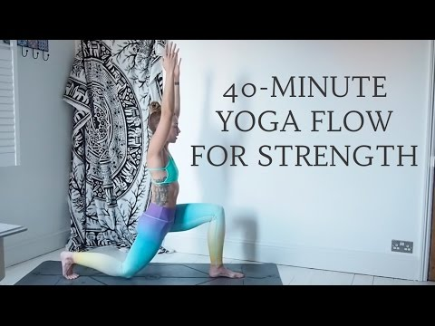 YOGANUARY #25   40-Minute Yoga Flow for Strength, All Levels   CAT MEFFAN