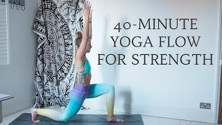 Video YOGANUARY #25   40-Minute Yoga Flow for Strength, All Levels   CAT MEFFAN download MP3, 3GP, MP4, WEBM, AVI, FLV Maret 2018