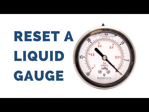 How to Reset a Liquid Filled Pressure Gauge