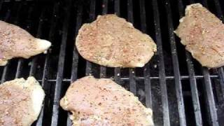 Grilling The Lemon Pepper Marinated Chicken Breasts