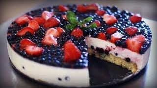 Легкий йогуртовый торт с ягодами