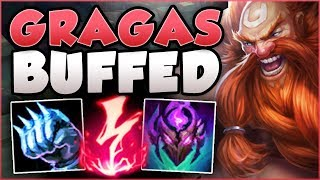 WTF! RIOT 100% OVERBUFFED GRAGAS WITH THESE NEW BUFFS! GRAGAS TOP GAMEPLAY! - League of Legends