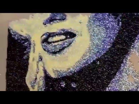 Marilyn Monroe glitter art