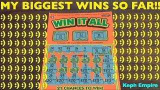 MY BIGGEST AND BEST WINS SO FAR playing California Lottery Scratchers