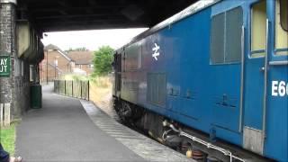 (HD) British Rail Class 73, E6047 at Groombridge, 02/08/13.