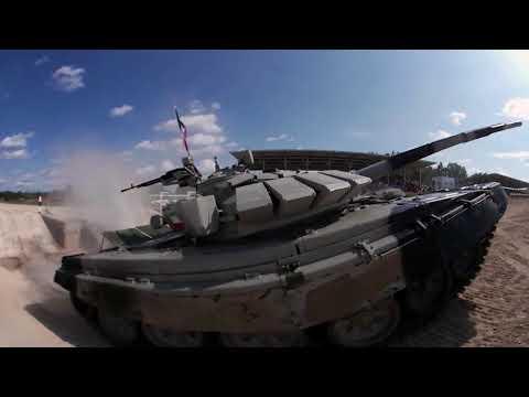 360° cam captures explosive tank biathlon finals at Army Games 2017