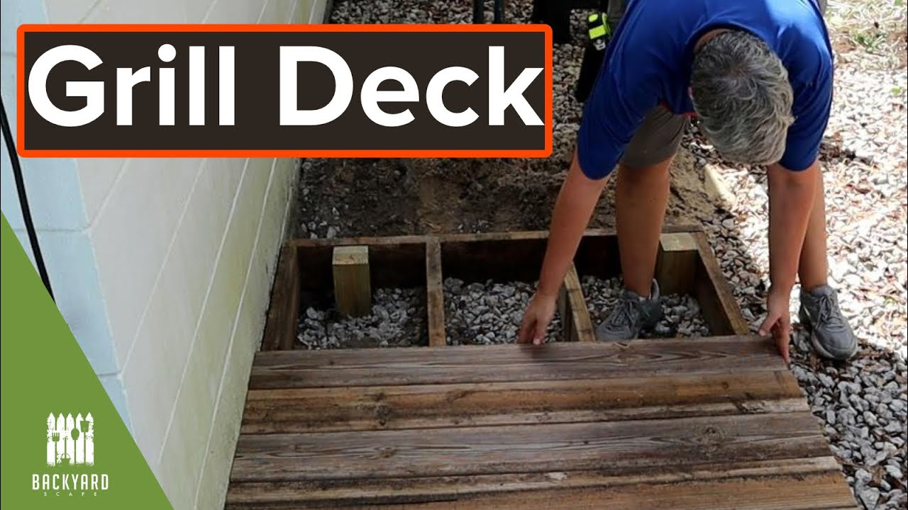 How To Build A Small Deck For Grill Backyardscape Youtube