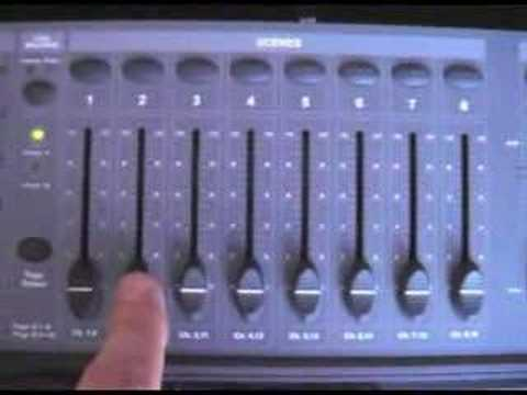 DMX lighting controller programming part 1 - YouTube