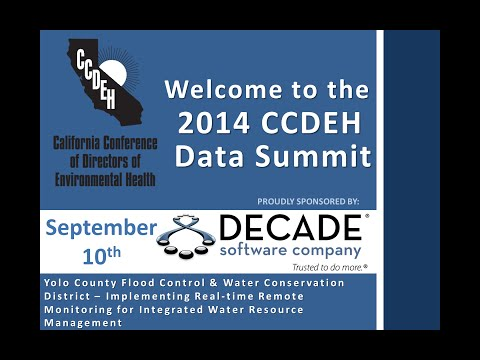 CCDEH Data Summit Session – Implementing Real-Time Remote Monitoring – September 10, 2014