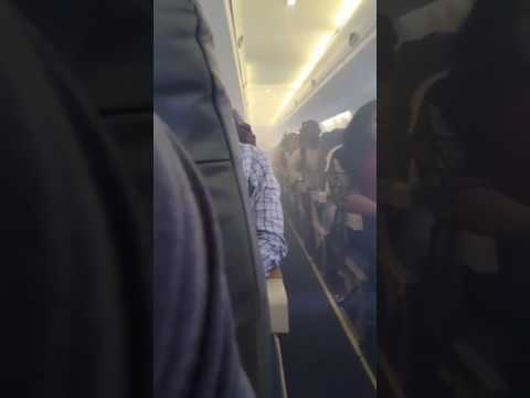Terrified passenger films smoke filled cabin on Lagos flight