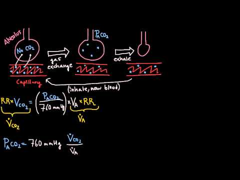 Respiration - Alveolar Ventilation Equation