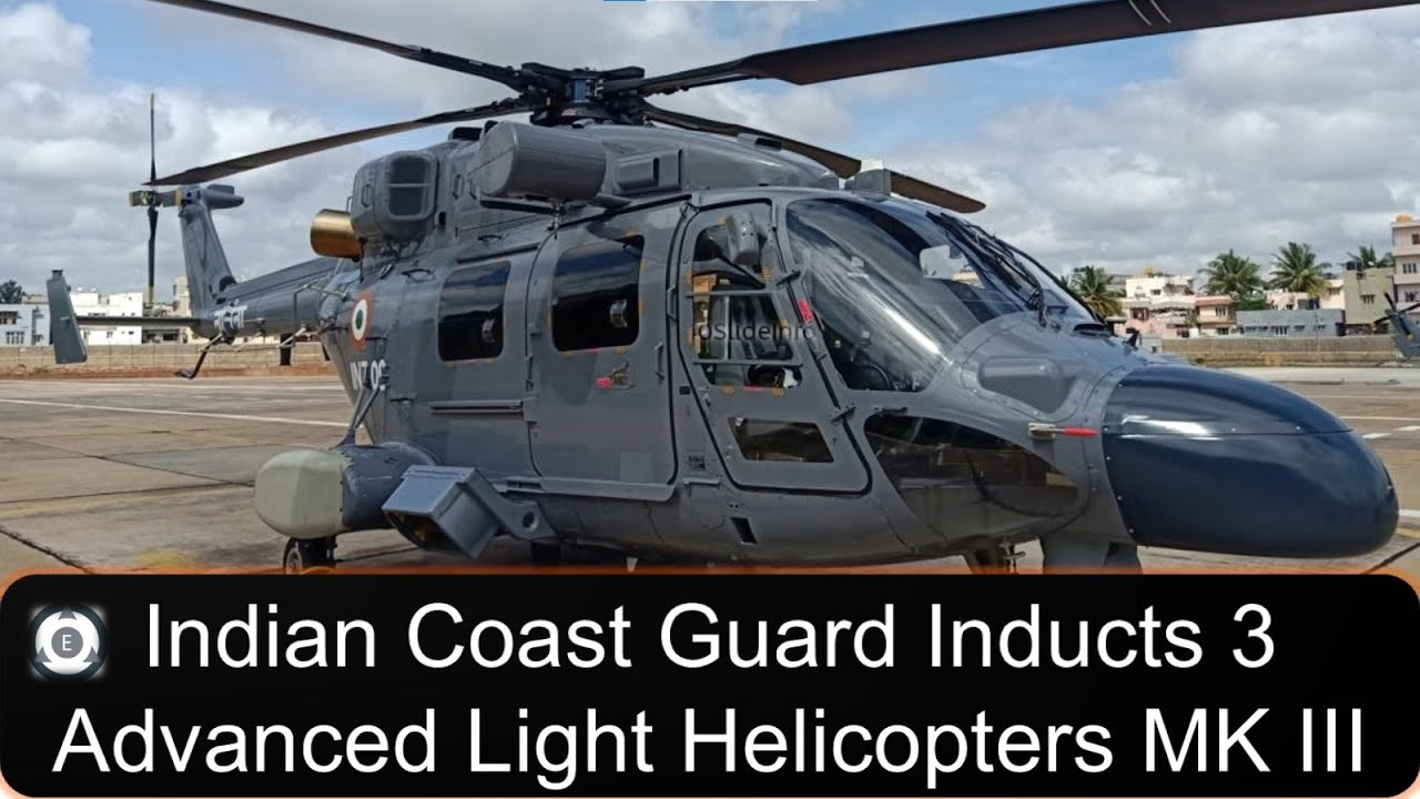 Download Indian Coast Guard Inducts 3 Advanced Light Helicopters (ALH) MK III
