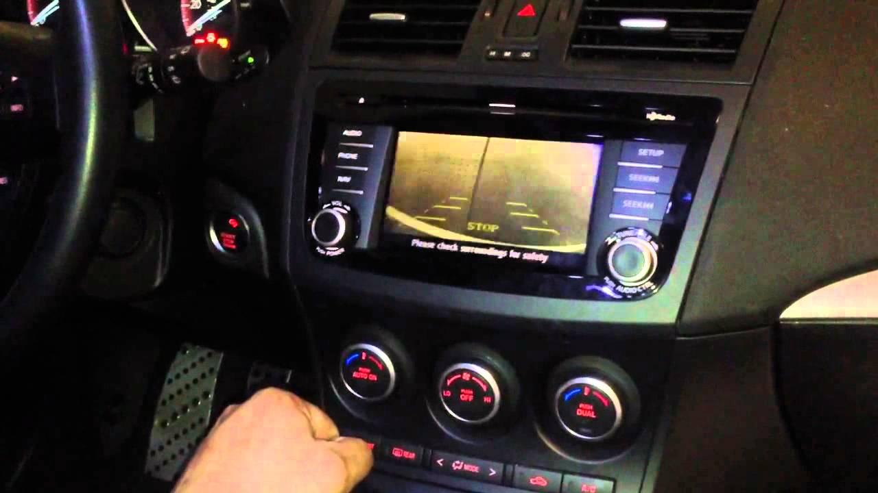 Mazda Speed 3 >> Backup camera Mazdaspeed 3 2013 - YouTube