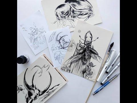 Рисуем жуков