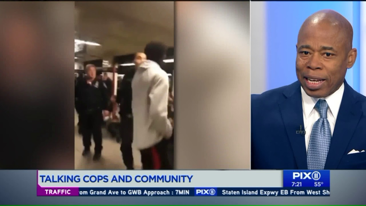 Eric Adams on cops and community in Brooklyn after White Officer's Violent Attack on Children.