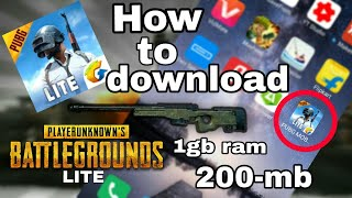 Download pubg mobile only 200 mb 100 working 1gb ram 200 mb only