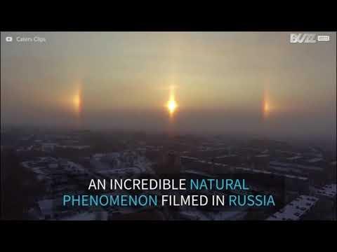 Natural phenomenon creates an AMAZING Halo around the Sun in Russia | SUN HALO 2017