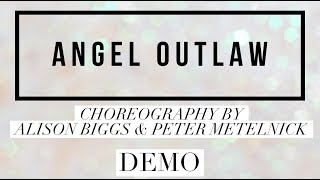 ANGEL OUTLAW line dance demo, choreography by Alison Biggs & Peter Metelnick