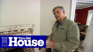 This Old House general contractor Tom Silva shows how to beautify an old, ugly brick fireplace. (See below for a shopping list and