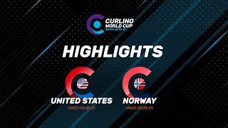 HIGHLIGHTS: United States v Norway - Mixed Doubles - Curling World Cup second leg, Omaha, USA