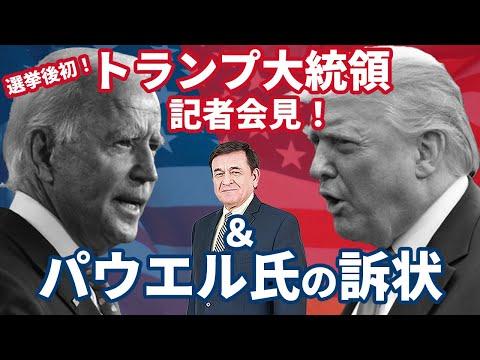 2020/11/27 トランプ大統領選挙後、初の記者会見&パウエル弁護士の訴状について