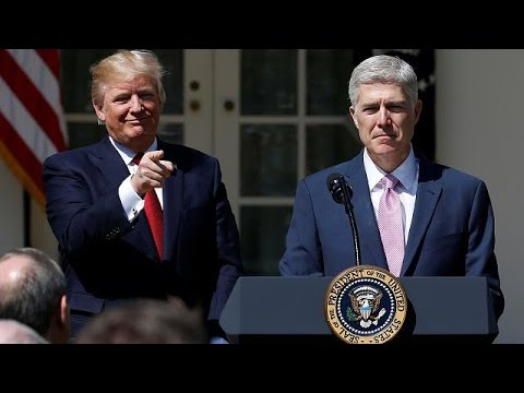 Trump's choice Neil Gorsuch sworn in as Supreme Court judge