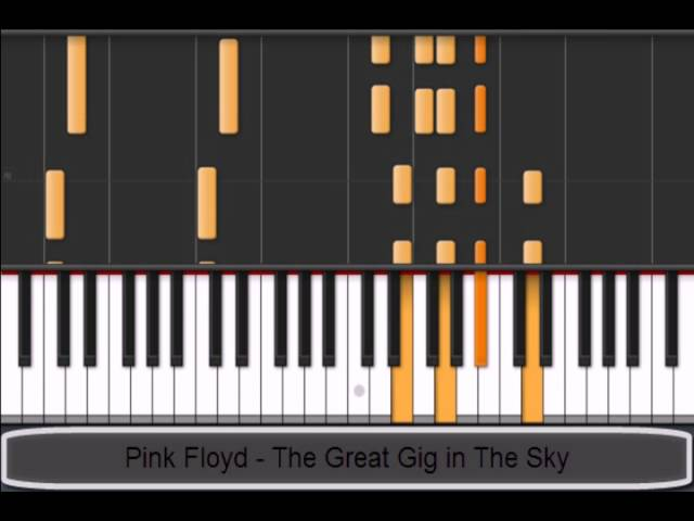Pink Floyd The Great Gig In The Sky Piano Tutorial Chords Chordify