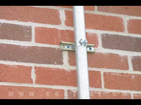 Attaching Conduit To Brick Using Tapcon Concrete Screws