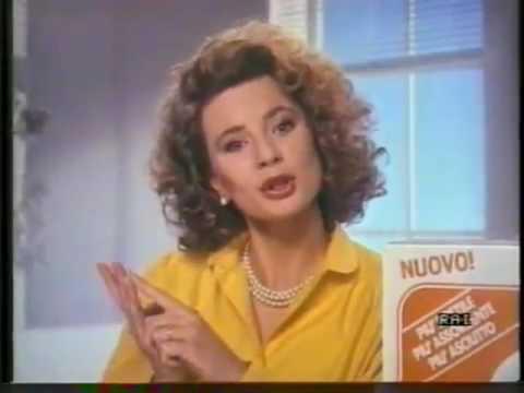 Pannolini Lines Oro con Antonella Elia 1987 Mamma c'è un nuovo pannolino